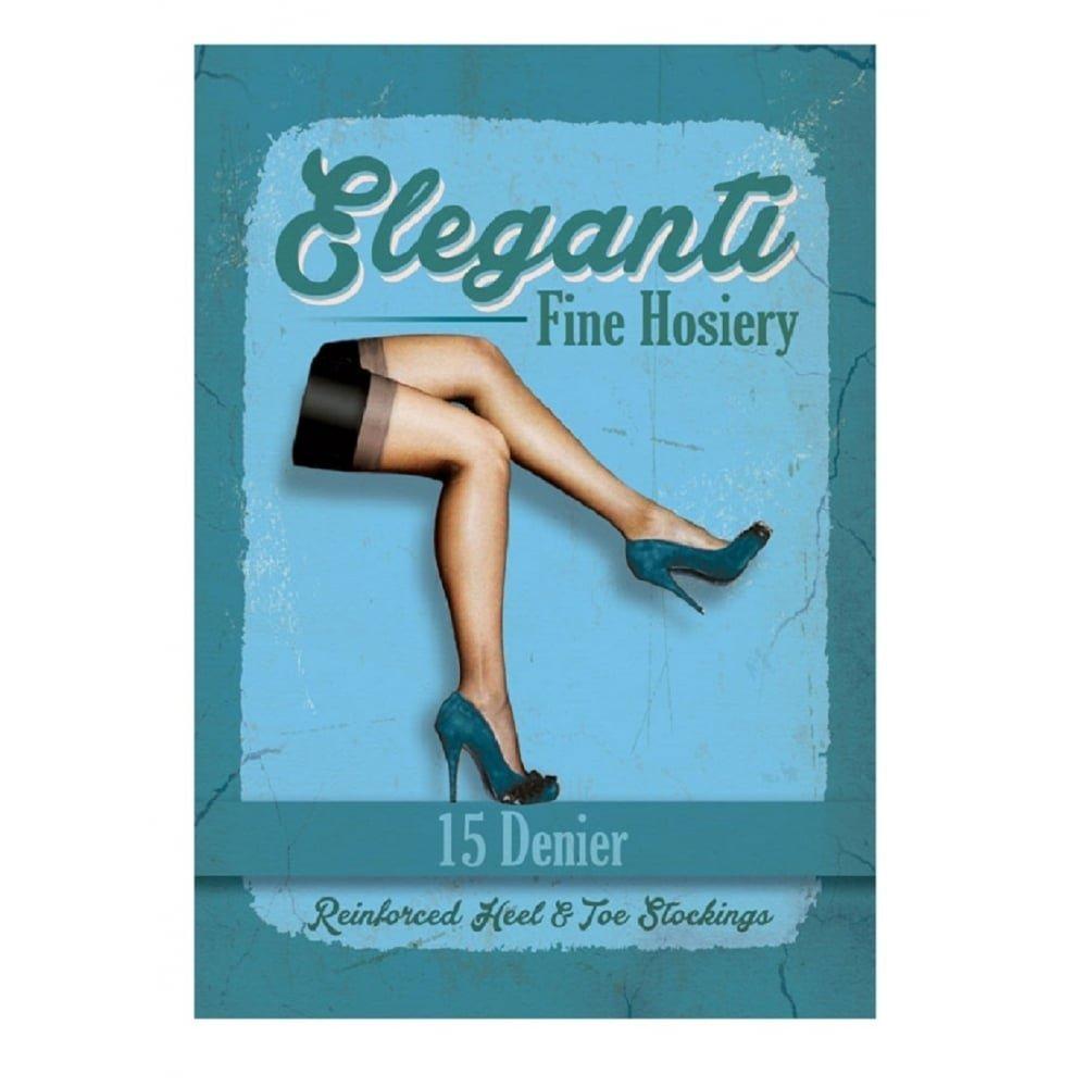 8473e14f0390a Eleganti Women's Full Contrast RHT stockings x large (6' plus, 182 cm plus)  natural/black: Amazon.ca: Clothing & Accessories