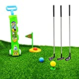 "SOWOFA Popular Sports Outdoor Toy Kids' 24"" Golf Play Set Toy Physical Training Golf Set for Toddler Kids Beginners"