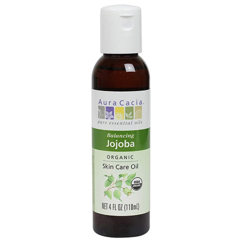 Aura Cacia Certified Organic Jojoba Skin Care Oil | 4 fl. oz. | Simmondsia chinensis