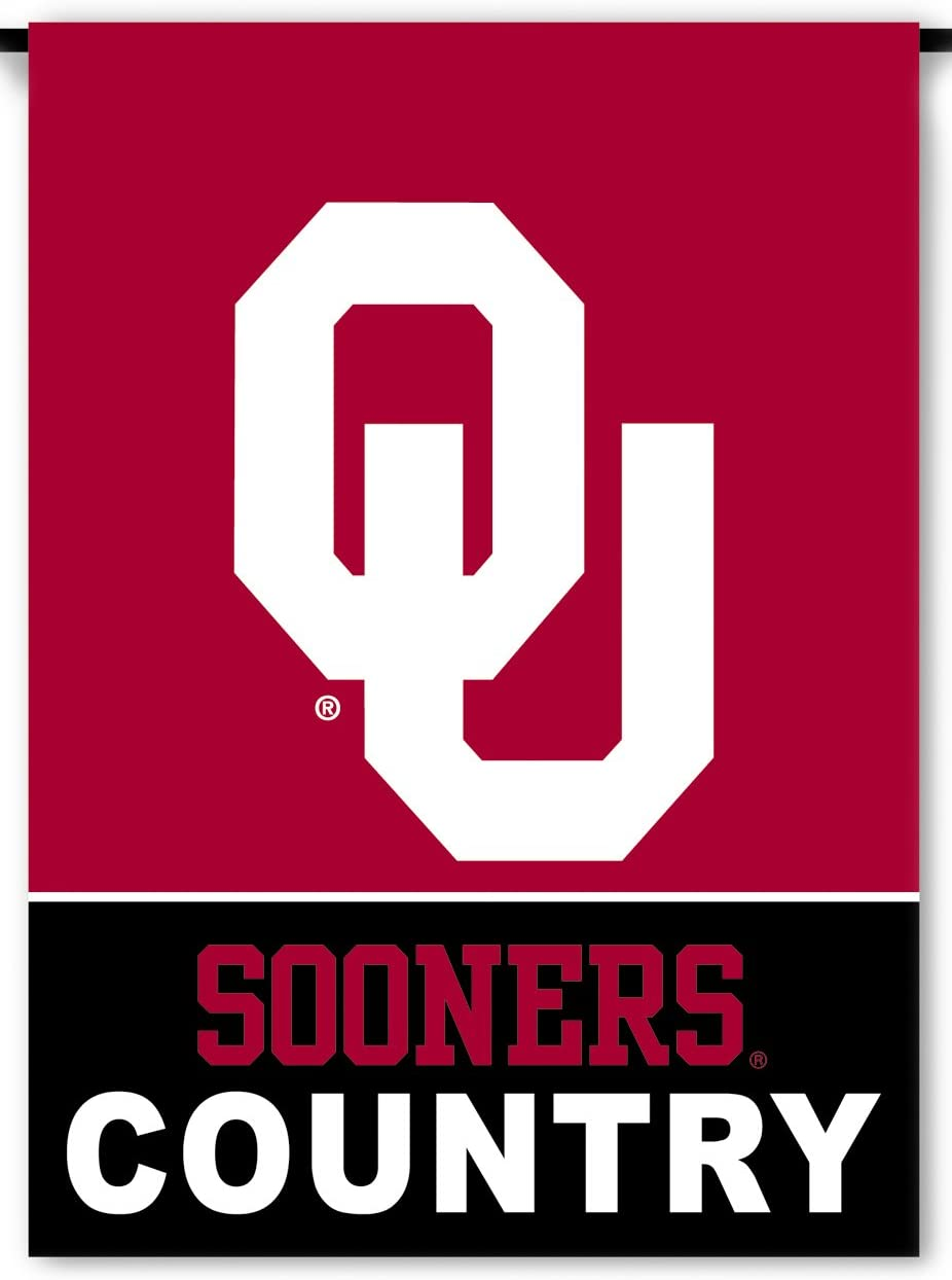 NCAA Oklahoma Sooners 2-Sided Country Garden Flag, Team Color