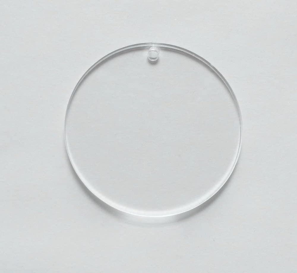 Round Shape Clear Plastic Name Address Picture Tag Holder Key Chain Keyring