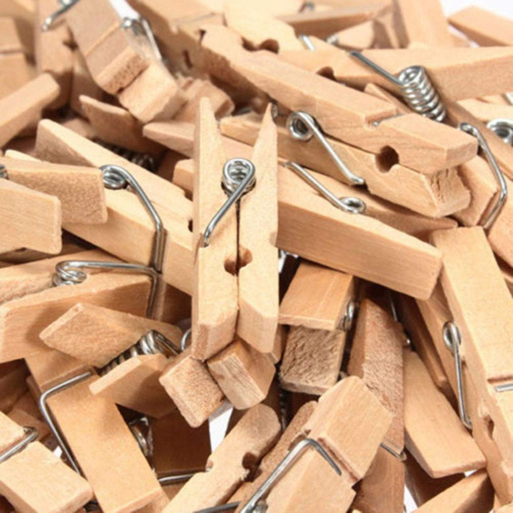 20-100 Mini Wooden Craft Pegs 35mm choose colour  BDAU Photo Clips