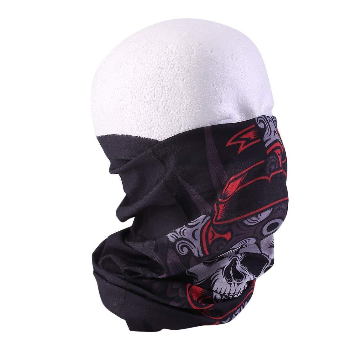 color:Skeleton faces Stylish Seamless Scarf Multifunctional Climb Magic Skull Winter Outside Face Mask Climb Magic Snowboard Unisex Scarves