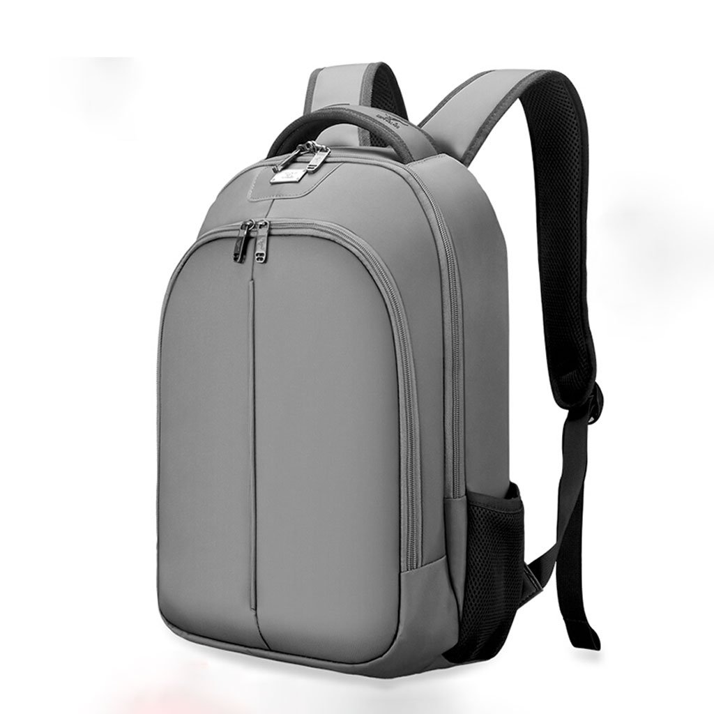 ZMLSXU ポータブル シンプル 通気性 男女兼用 大容量 軽量 ビジネス バッグ カジュアル ファッション 防水 オックスフォード バックパック ブラック グレー  グレー B07FGG9SSH