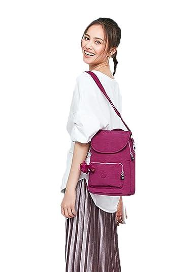 999d13c16933 Amazon.co.jp: BAJIAN リュック リュックサック 旅行 通勤 通学 レディース 大容量 おしゃれ かわいい 全8色 リュックサック  パープルM: シューズ&バッグ