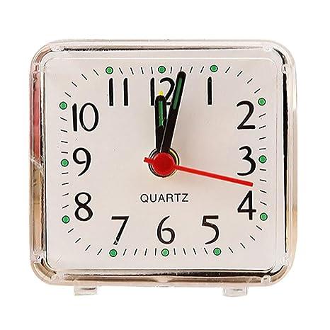 despertadores digitales pilas, Sannysis reloj despertador analogico niña - Bip alarma - Forma cuadrada -