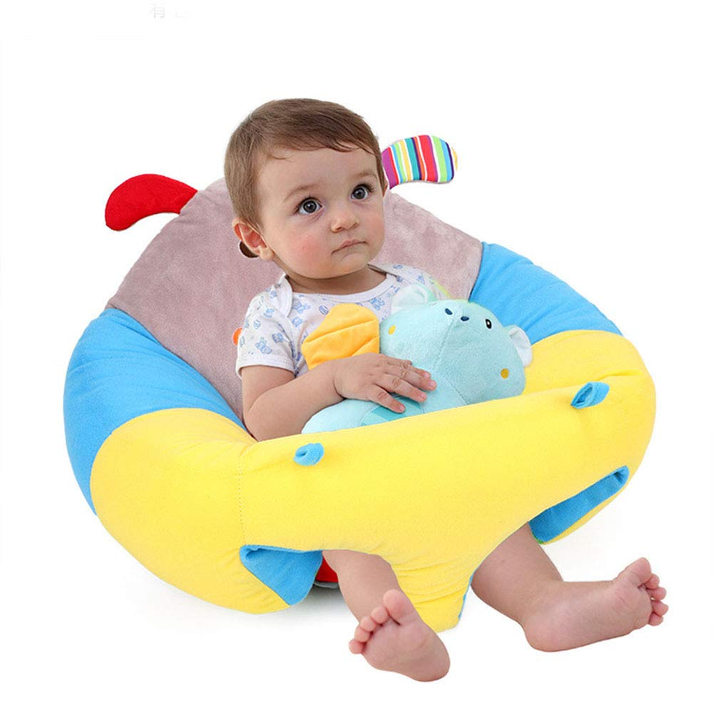 Suitable for 0-3 Years Old MIJI Baby Cushion-360/° Support Upholstered Sofa Cartoon Style Plush Toy Seat Sofa Gift