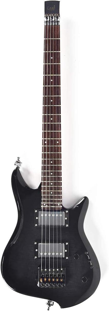 Asmuse Guitarra Eléctrica sin Cabeza, Guitarra LEAF pequeña de ...