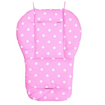 Jiyaru Baby Stroller Padding Seat Liner Infant Car Pushchair Cushion Mat Pink