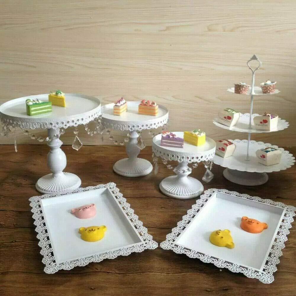 Supporto per Cupcake Rotondo a 3 Piani per Biscotti Caramelle o per Festa di Compleanno di Frutta MINUS ONE Supporto per Torta da 12 Pezzi Supporto per Torta in Ferro di Alta qualit/à