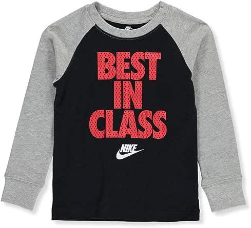 Nike - Camiseta con pegatina para niño - Negro - 4 años: Amazon.es: Ropa y accesorios