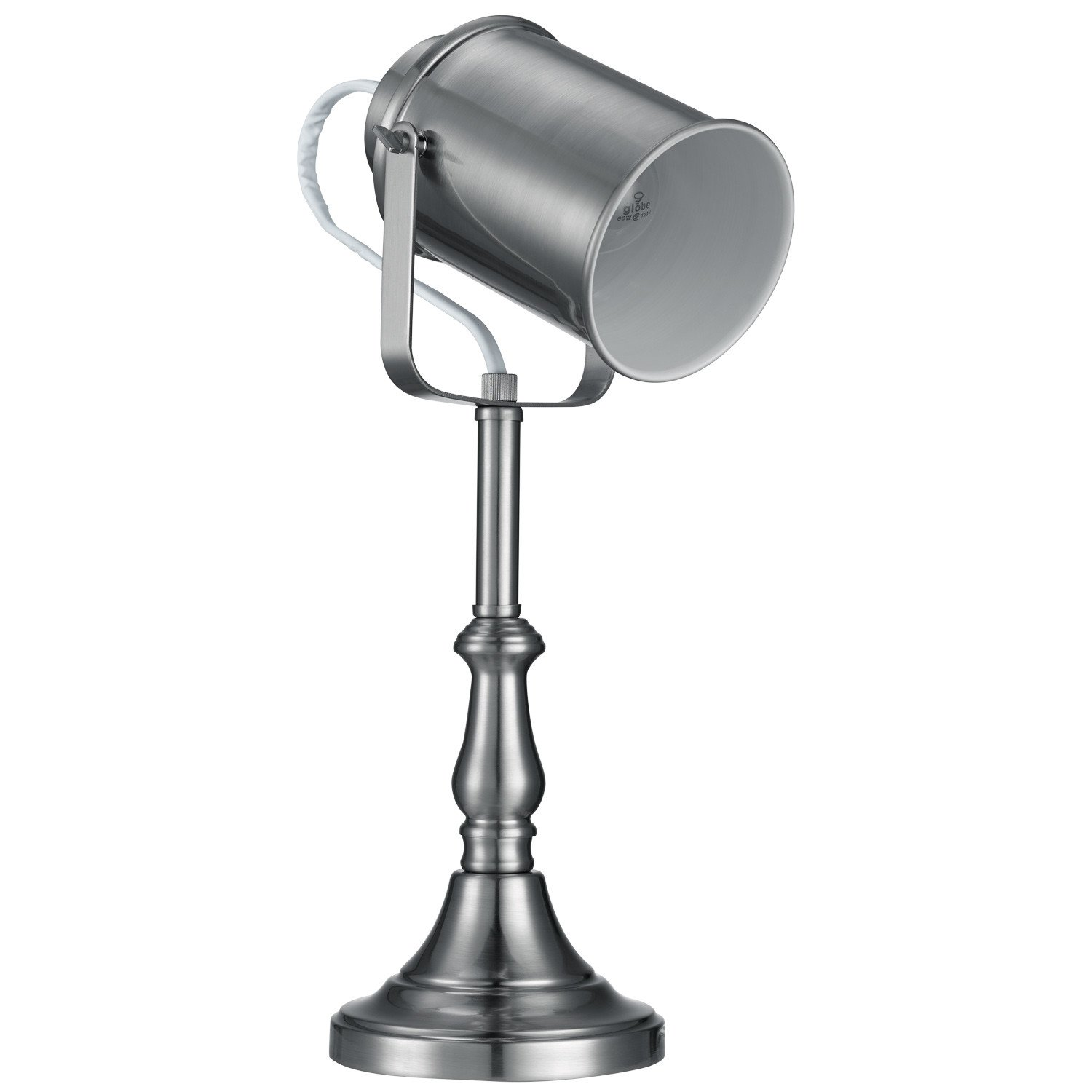 Brushed Steel Studio Desk Lamp