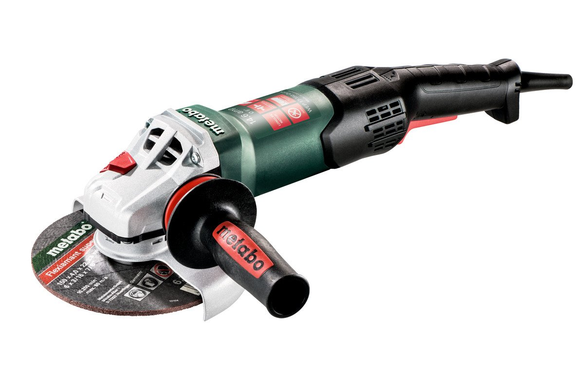 Metabo – 6 Angle Grinder – 9, 600 Rpm – 14.6 Amp W Electronics, Non-Lock Paddle, RAT Tail 601078420 17-150 Quick RT , Professional Angle Grinders