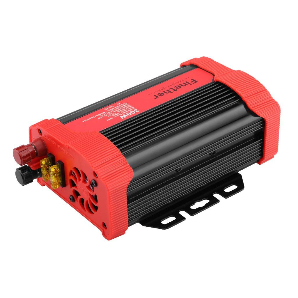 Finether Inversor de voltage de coche DC V a AC V Convertidor