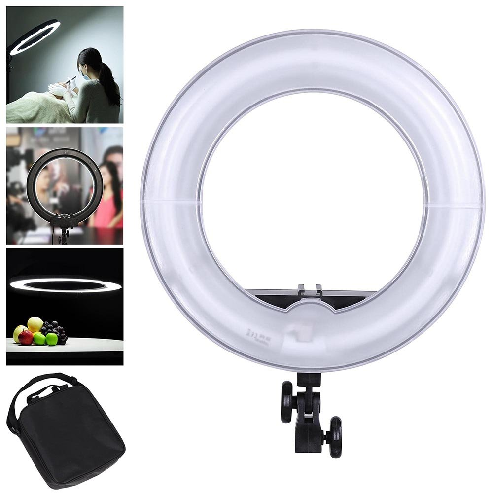 AW Professional 14'' Dimmable Ring Light 45W Fluorescent Photo Video Studio Portrait Light 5500K w/Bag by AW
