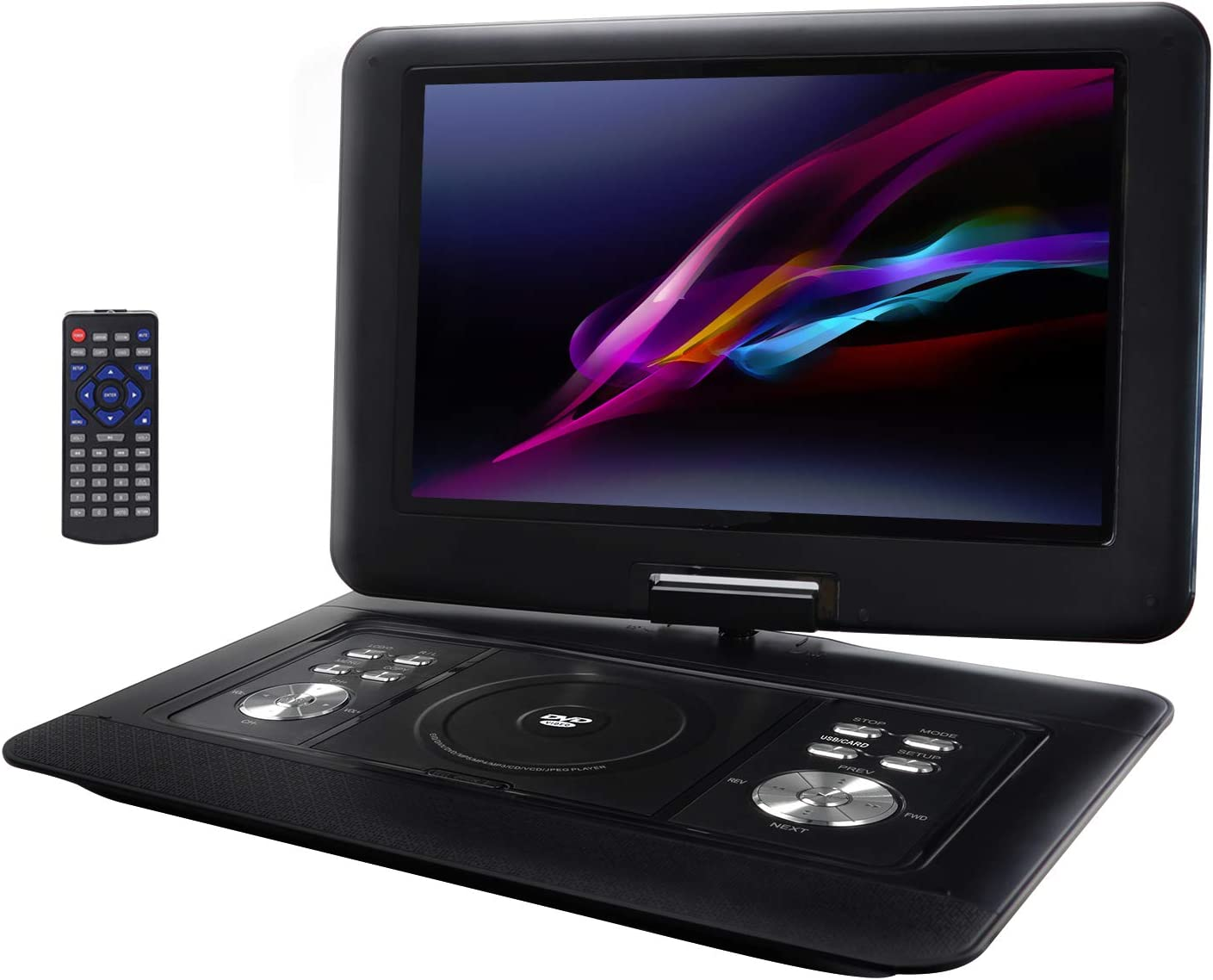 """Trexonic 14.1"""" Portable DVD Player with Tft-LCD Screen and USB/SD/AV Inputs"""