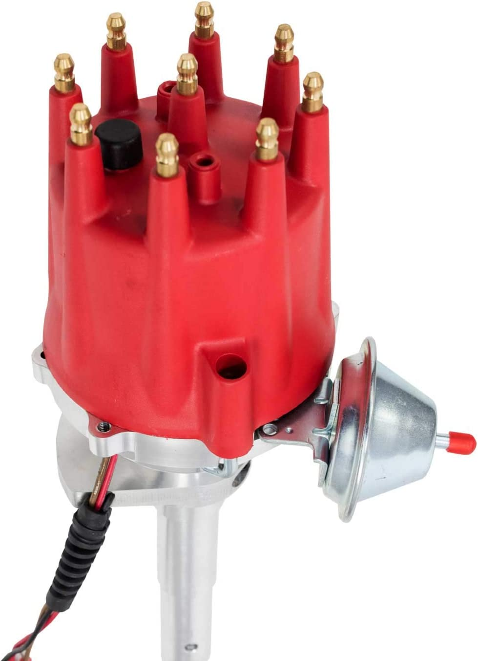 A-Team Performance Pro Series Ready to Run R2R Distributor Compatible With Ford Flathead 239 255 V8 Engine Blue Cap