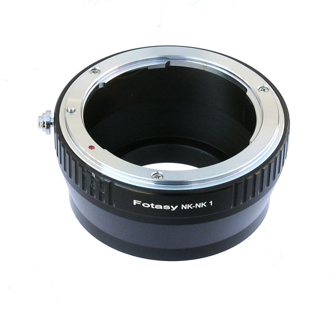 Fotasy Nikon Lens to Nikon 1 Mirrorless Camera Adapter, fit Nikon V1 V2 V3 S1 S2 J1 J2 J3 J4 J5 AW1