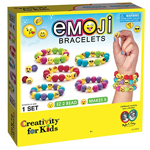 Creativity for Kids Emoji Bead Bracelet Craft Kit - Makes 5 Emoji Bracelets 61ROSNxtzOL