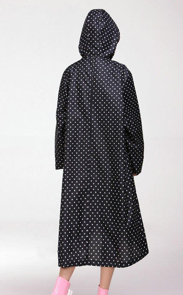 LaoZan Donne Impermeabile Outdoor Rainwear Poncho Impermeabile Cappotto di Pioggia con Cappuccio