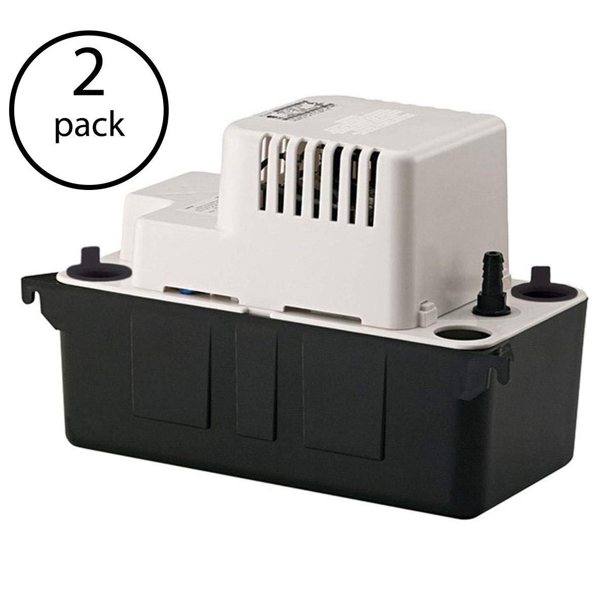 Little Giant VCMA-20ULS 1/30 HP 1/2 ABS Gallon Tank Condensate Removal Pump (2 Pack) by Little Giant