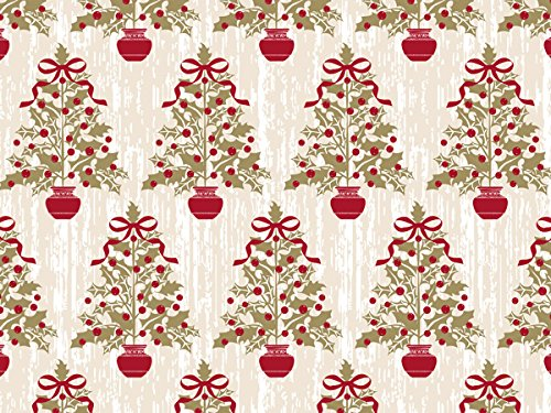 Pack Of 1, Holly Trees 24'' X 417' Roll Christmas Premium Gift Wrap Papers For 175 -200 Gifts Made In USA by Generic