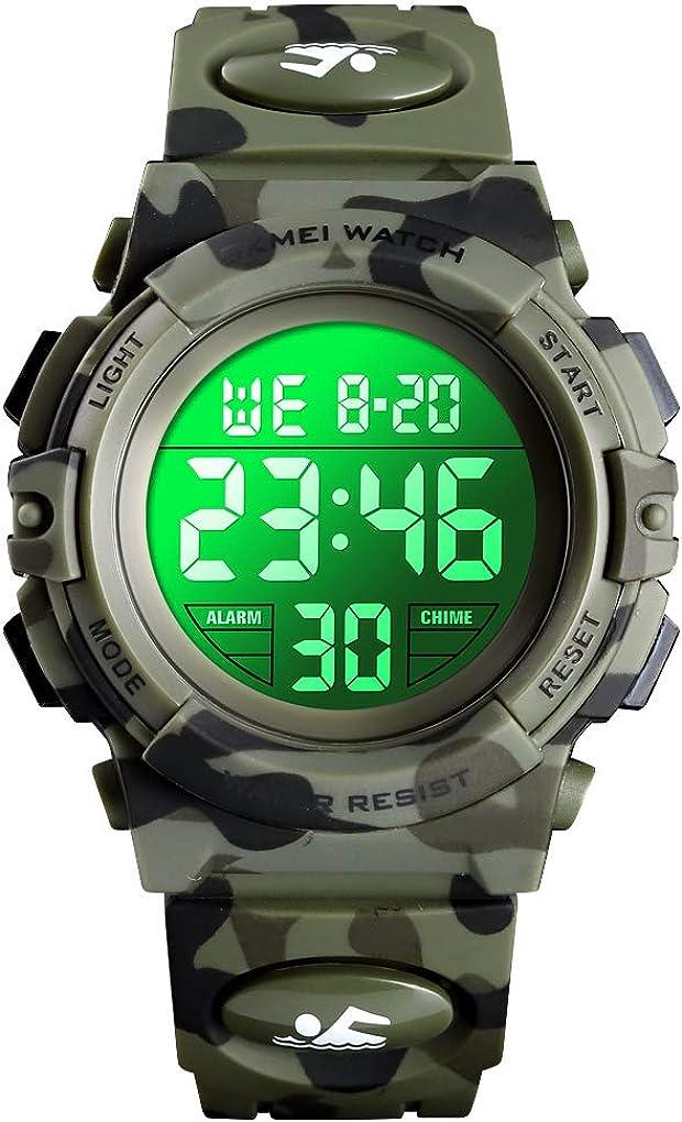 Kids Digital Watch Outdoor Sports 50M Waterproof Electronic Watches Alarm Clock 12/24 H Stopwatch Calendar Boy Girl Wristwatch