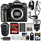 Pentax K-1 Mark II Full Frame Wi-Fi Digital SLR Camera Body FA 15-30mm f/2.8 Lens + 64GB Card + Battery + Flash + Backpack + Tripod + Strap + Kit