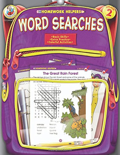 Word Searches, Grade 2 (Homework Helper) (Homework Helper Skills)