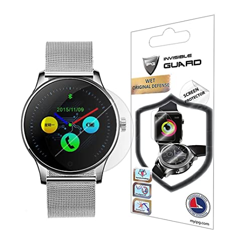 IPG for K88H Lemfo Smartwatch Screen Protector (2 Units) Invisible Ultra HD Clear Film Anti Scratch Skin Guard - Smooth/Self-Healing/Bubble -Free