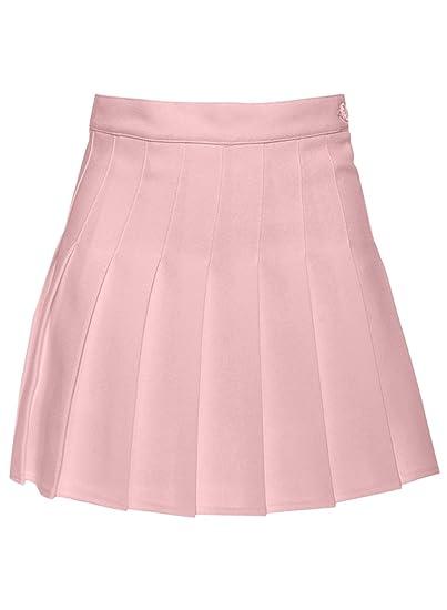 Futurino - Falda de tenis plisada para mujer rosa rosa Medium ...