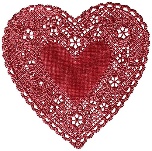 """Royal Lace Hygloss 26527 Red Heart Foil Paper Doilies, 4"""""""