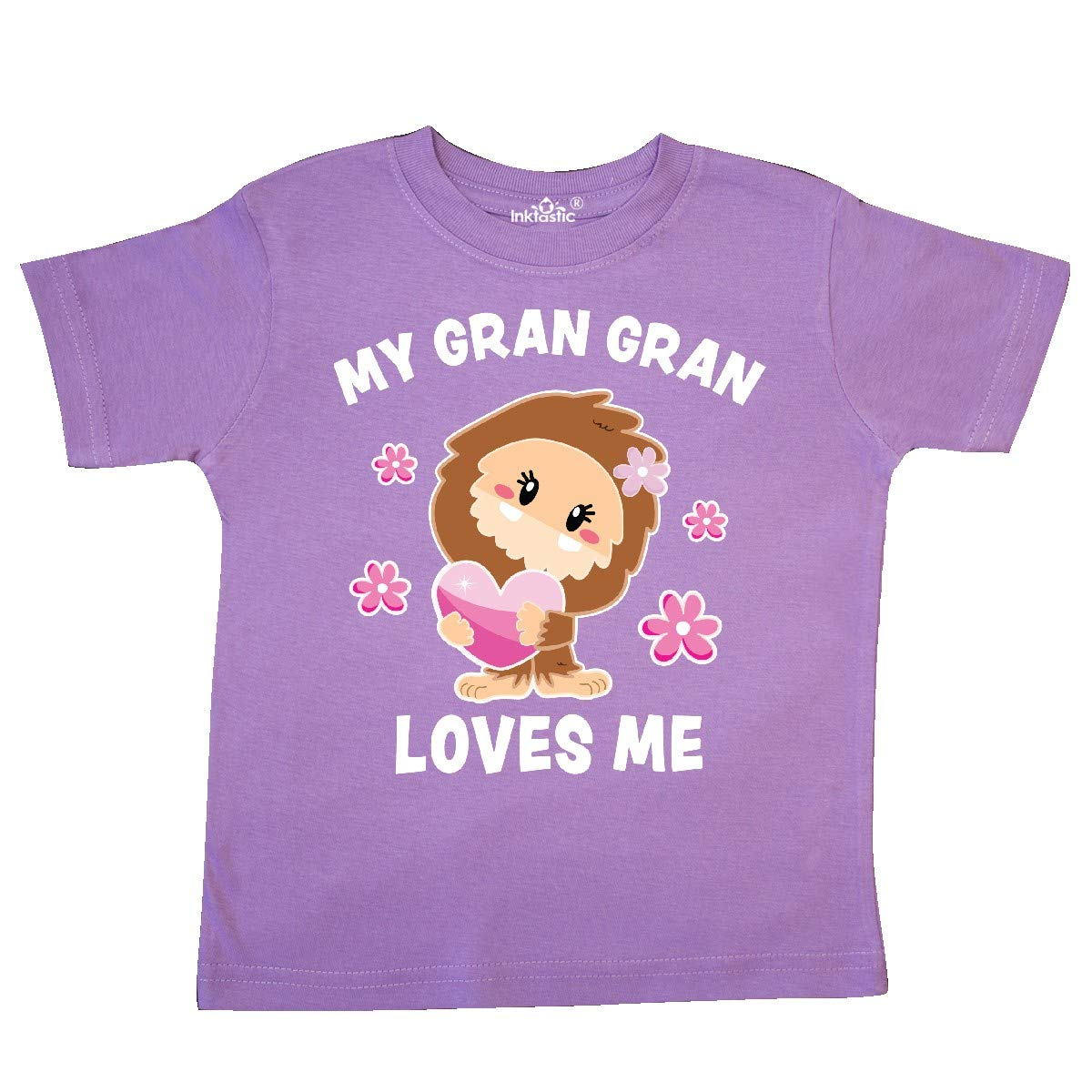 inktastic My Gran Gran Loves Me with Bigfoot Toddler T-Shirt