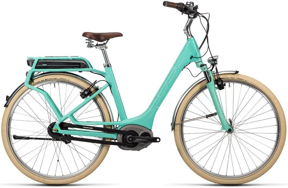 Bicicleta eléctrica CUBE Elly Cruise Hybrid, 400 mint n white ...