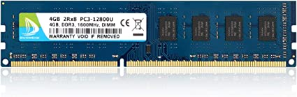 For Kingston 16GB 2X8GB PC3-12800U DDR3 1600MHZ DIMM   240pin BLUE RAM CL11 1.5V