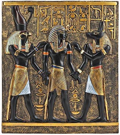 Design Toscano QL136311 Rameses I Between Horus and Anubis Wall Frieze