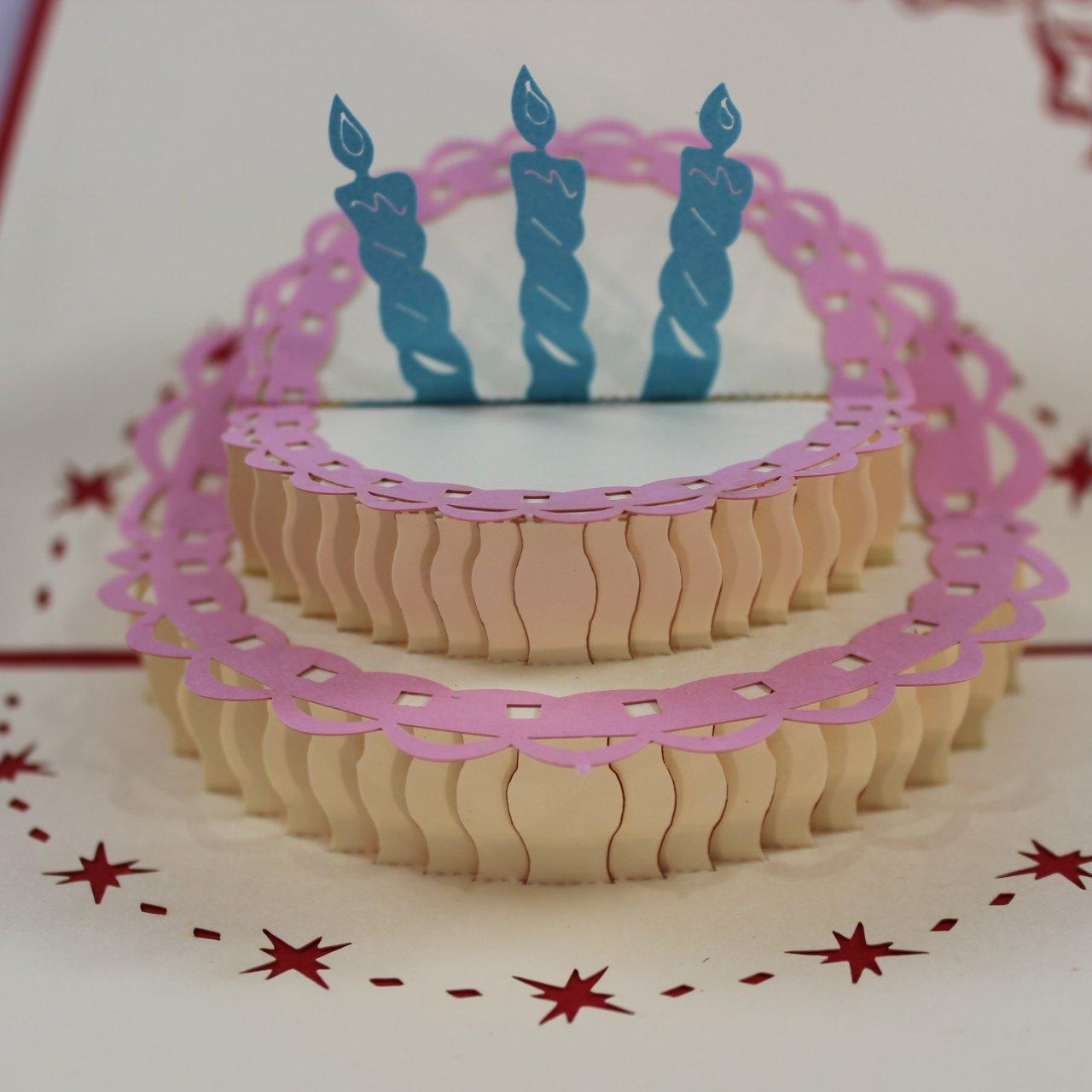 Amazing Happy Birthday Cake Pop Up Greeting Card 2 Pack Buy Online In Funny Birthday Cards Online Kookostrdamsfinfo