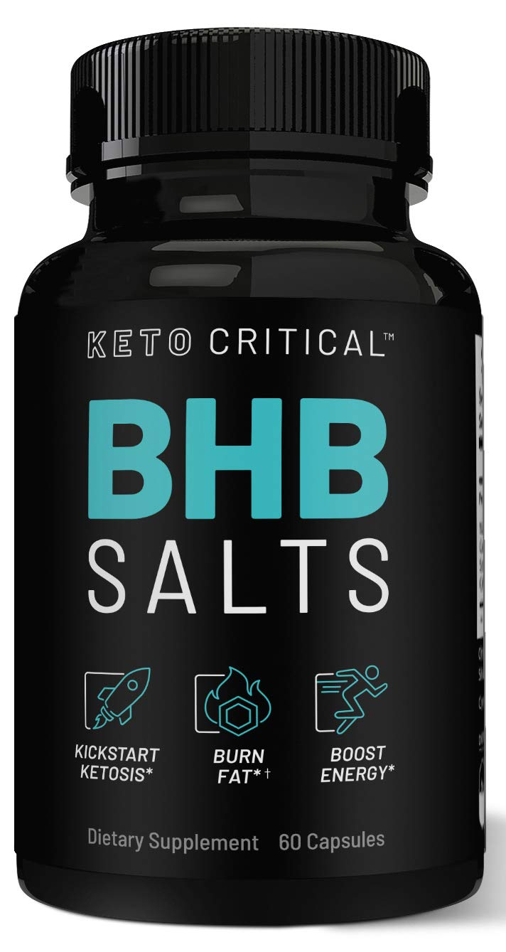 Keto Diet Pills Exogenous Ketones BHB Salts Beta-Hydroxybutyrate (800mg | 60 Capsules) Best Fat Burner & Weight Loss Supplement for Men and Women, Boost Energy & Metabolism by Keto Critical (Image #1)