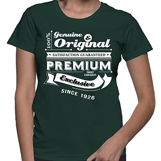 Gift For 90 Year Old Women Birthday Genuine And Original T Shirt Present