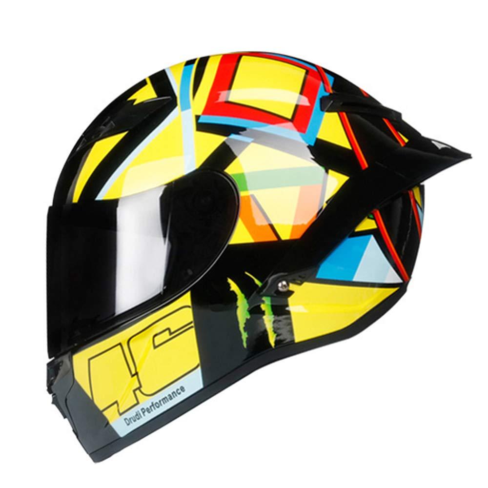 S, 46 Orange Woljay Integralhelm Helm Motorradhelm Motocross Offroad Moto Street Helme Fahrrad Helme