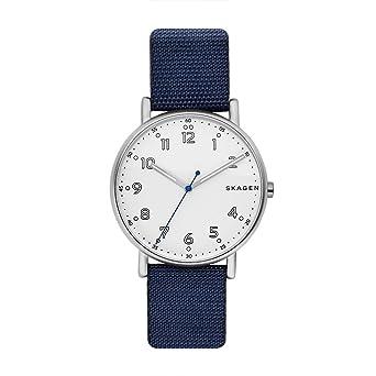 3f36f480b39 Amazon.com  Skagen Men s SKW6356 Signatur Blue Nylon Watch  Skagen ...