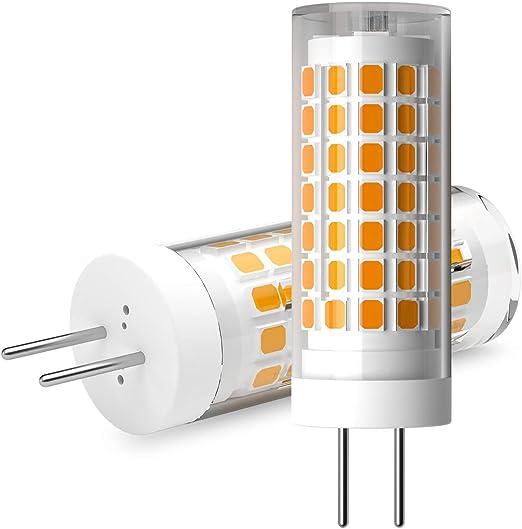 Ymm Bombilla LED G6.35 GY6.35 de 6 W, alta luminosidad, equivalente a bombilla halógena de 75 W, 90 V-230 V, luz blanca cálida, 3000 K (2 unidades) [Clase energética A+]