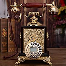 FMY High-end antique wood lacquer decoration telephone calls home furnishings creative gift Chinese Continental plane