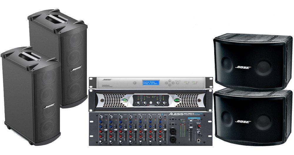bose karaoke system price. amazon.com: bose portable sound system with panaray 802 series iv loudspeakers, mb4 controlspace sp-24 processor, alesis multimix 10 karaoke price t