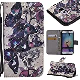 Best Galaxy 6 Edge Cases - Lomogo [3D Pattern] Galaxy S6 Edge Leather Wallet Review