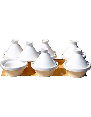 Blanco pequeño Tajín platos 7 cm x6 cerámica