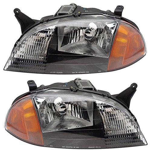 Koolzap For 98-01 Chevy Metro Headlight Headlamp Head Light Lamp Left & Right Side PAIR SET