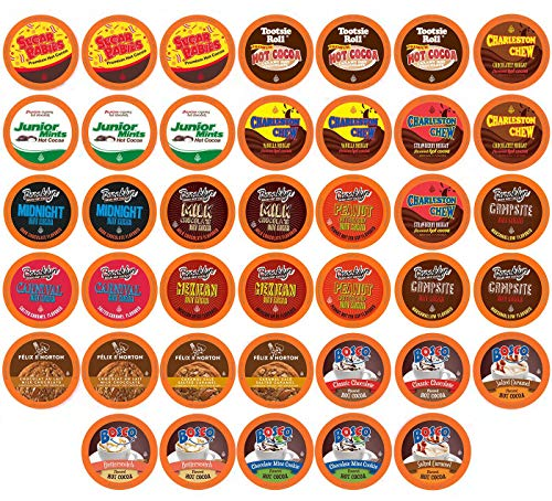Price comparison product image Two Rivers Chocolate Hot Cocoa Sampler Pack,  Single-Cup for Keurig K-Cup Brewers,  40 Count