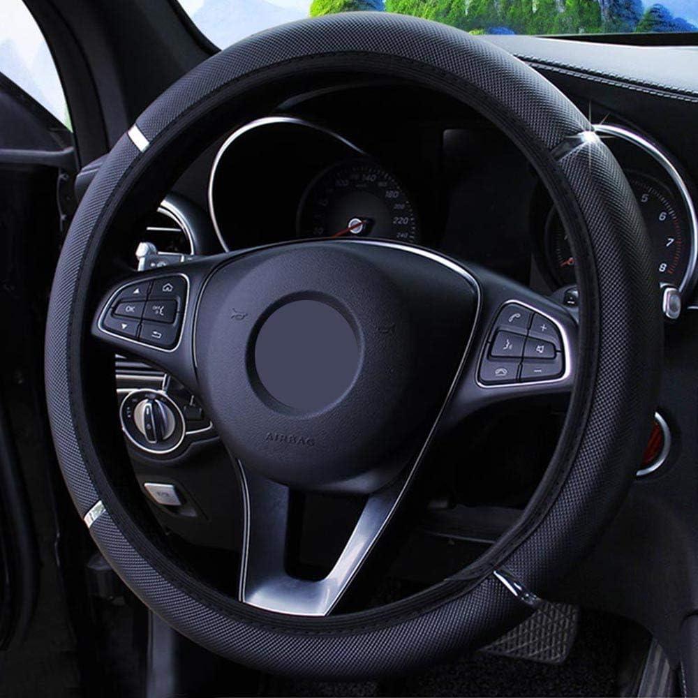 Diam/ètre 37-38 cm Housse de protection de volant de voiture universelle en cuir synth/étique