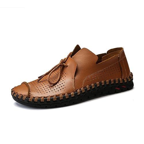 Caminata de los Hombres Mocasines Zapatos Planos Casual Slip On Mocasines de Conducción Liviana Penny Loafer Sneaker para Viajes Work Plus Size 47 48 49: ...